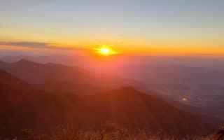 Pôr do Sol na Meia Travessia da Serra Fina