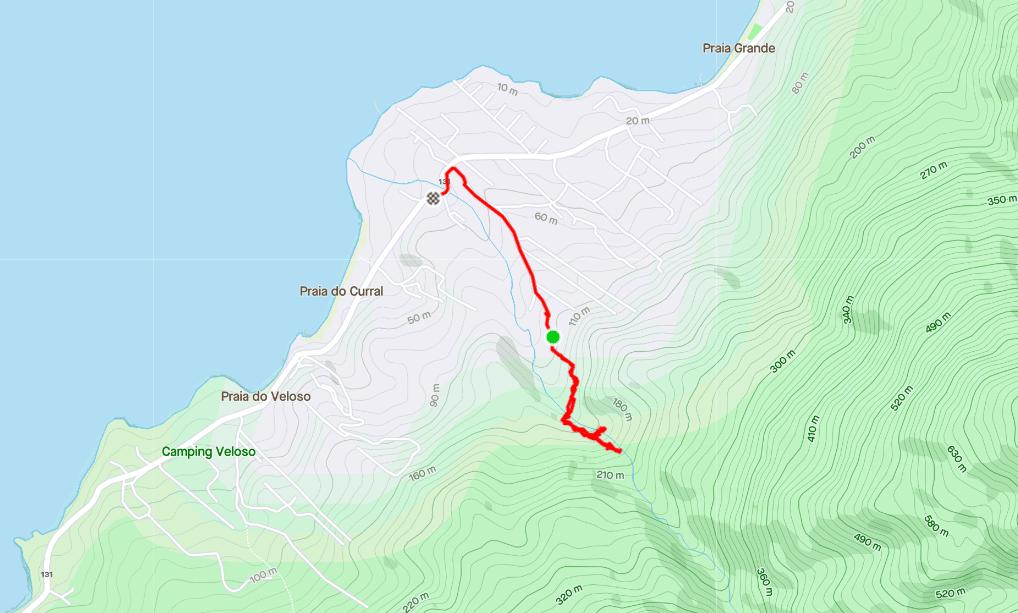 Mapa Trilha até Cachoeira Paquetá
