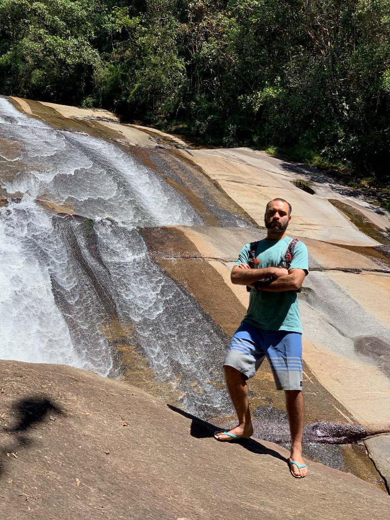 Cachoeira Santa Clara a queda