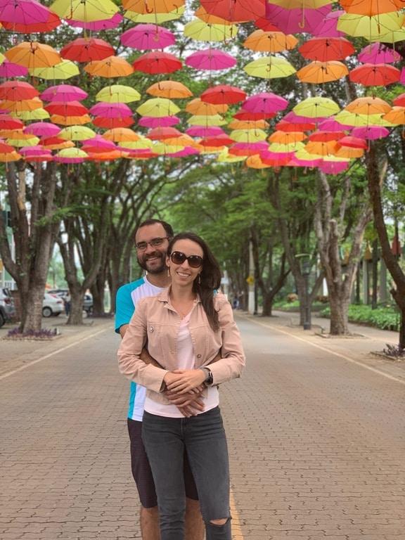 Rua com Guarda-chuvas em Holambra
