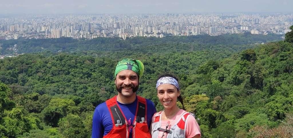 Vista da cidade na Pedra Grande, no Parque Estadual da Cantareira.