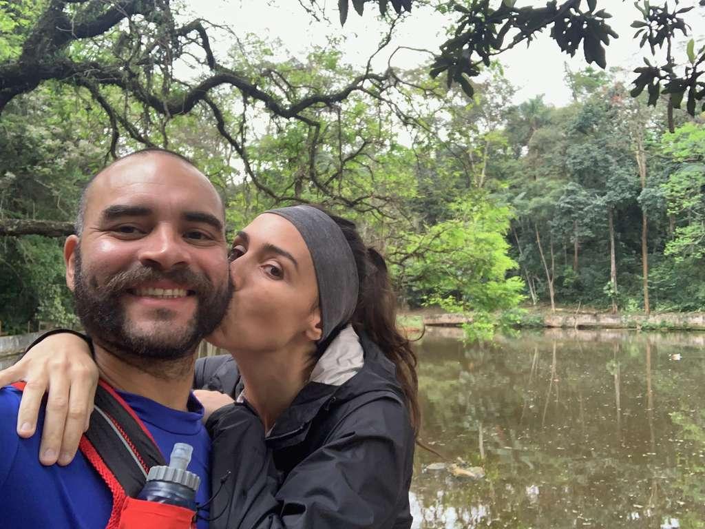 Na entrada do parque no Pico do Jaraguá