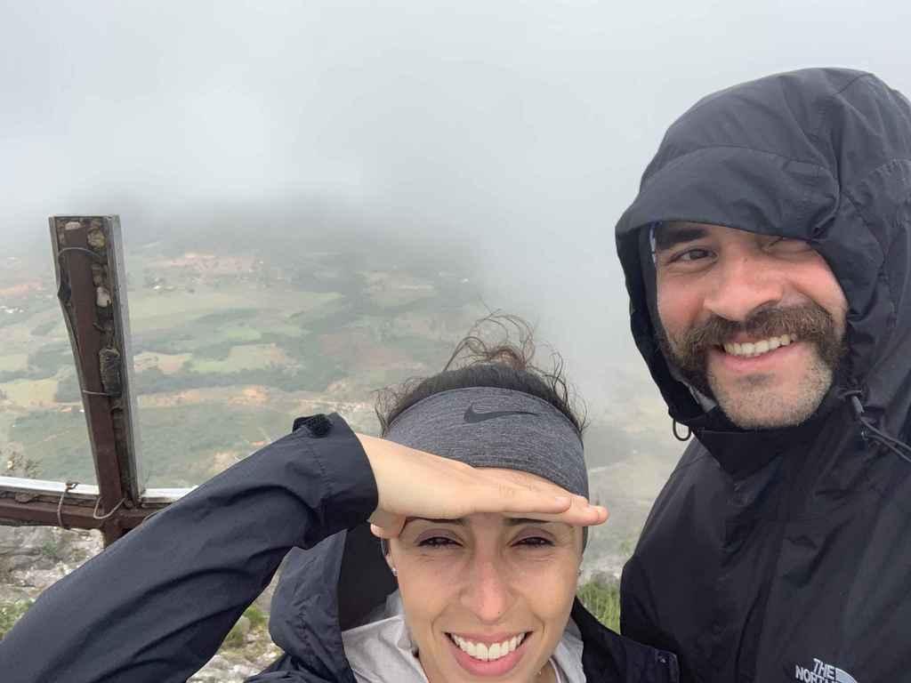 pico da Lapinha vista do local com neblina