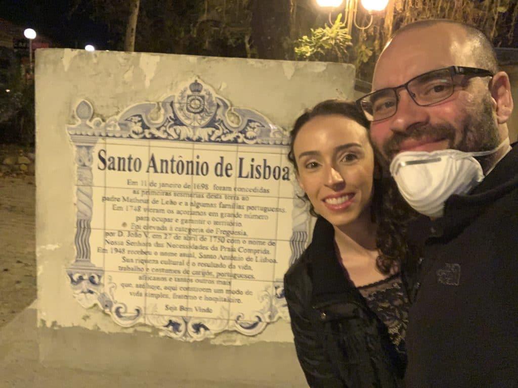Entrada da Cidade de Santo Antonio de Lisboa em Florianópolis