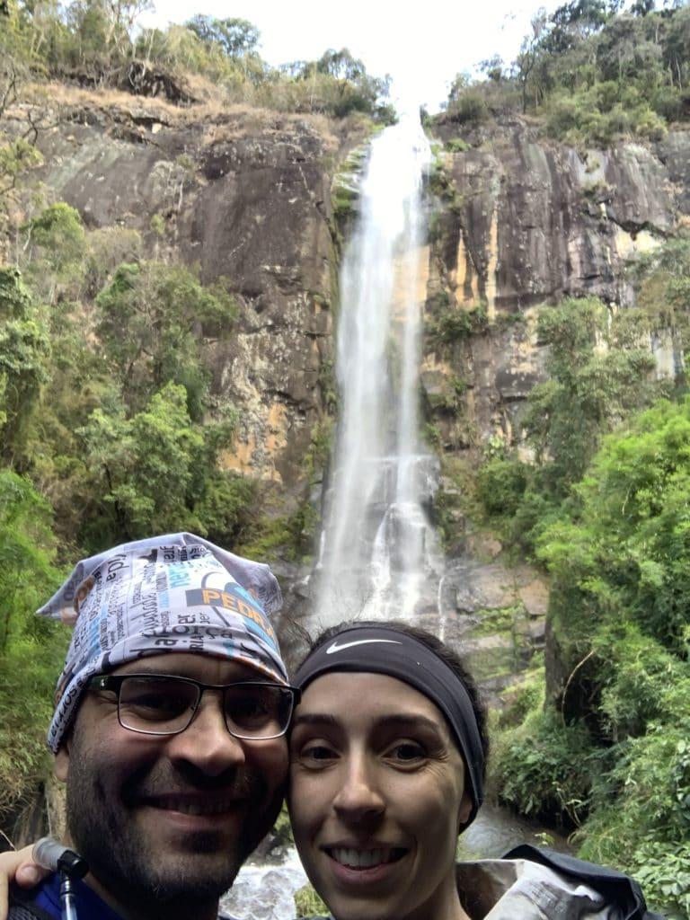 Queda de 100 metros da cachoeira.