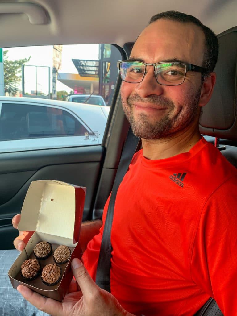 Brigadeiro de chocolate normal e belga