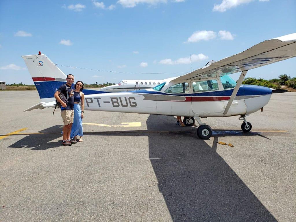 Avião que pegamos em Barreirinhas para sobrevoar os lençóis