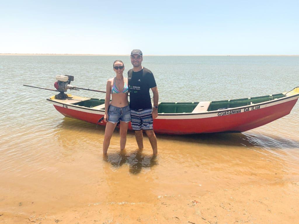 barco que pegamos até a Ilha do Amor