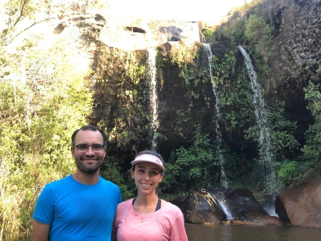 as três quedas da cachoeira do Alemão em Curitiba