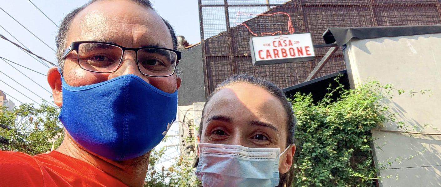 Entrada do restaurante Casa Carbone