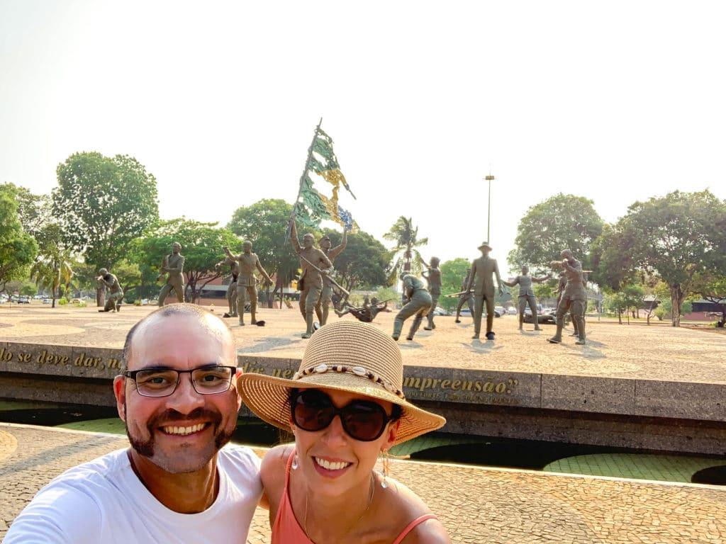 Monumento dezoito pelo forte em Palmas