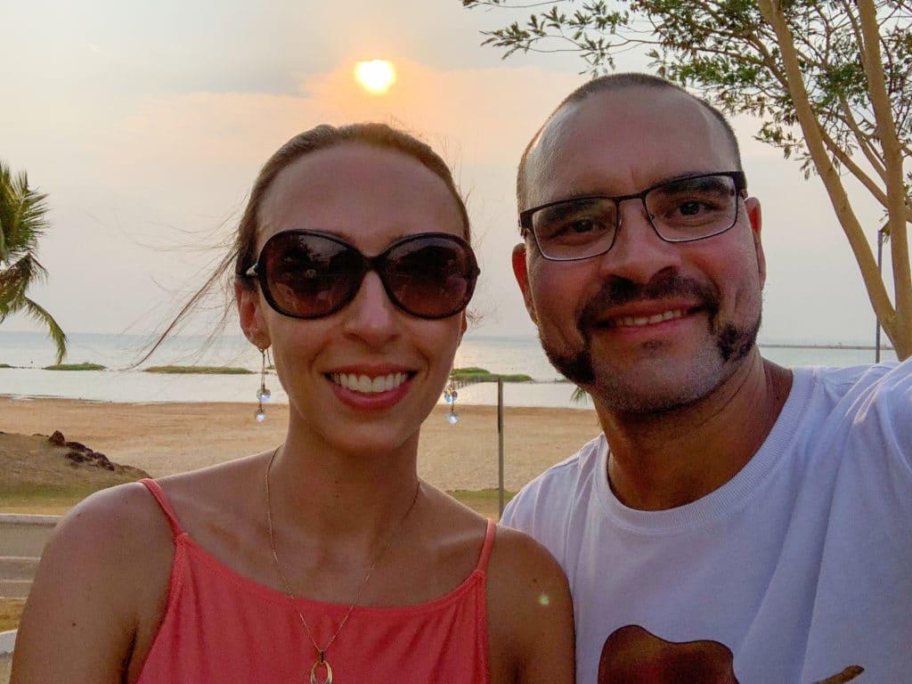 por do sol na Praia da Graciosa