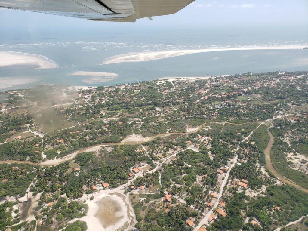 Vista aérea do povoado de Atins.