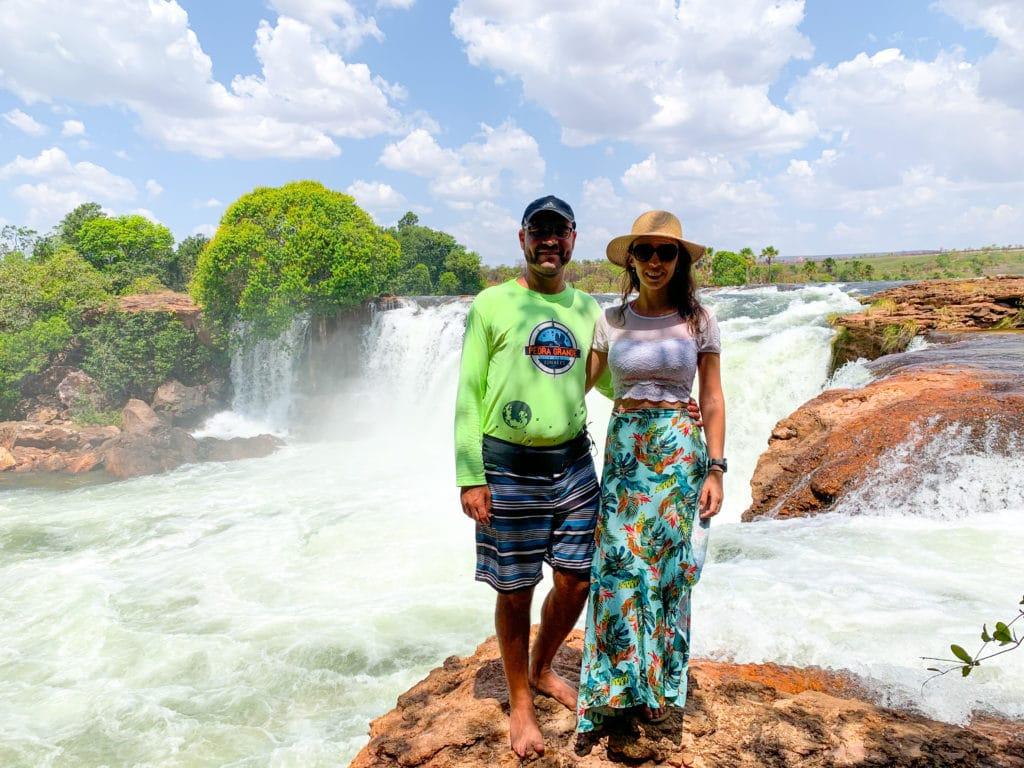 Queda da Cachoeira da Velha no Jalapão