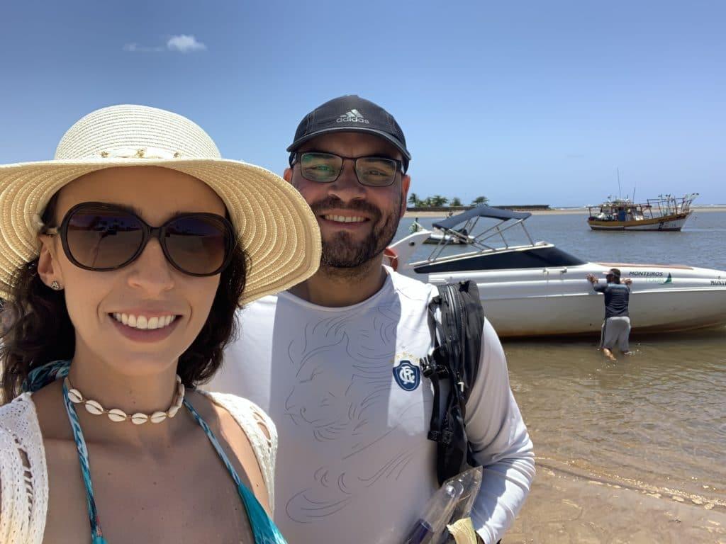 Nosso transporte até  a Ilha de Aleixo