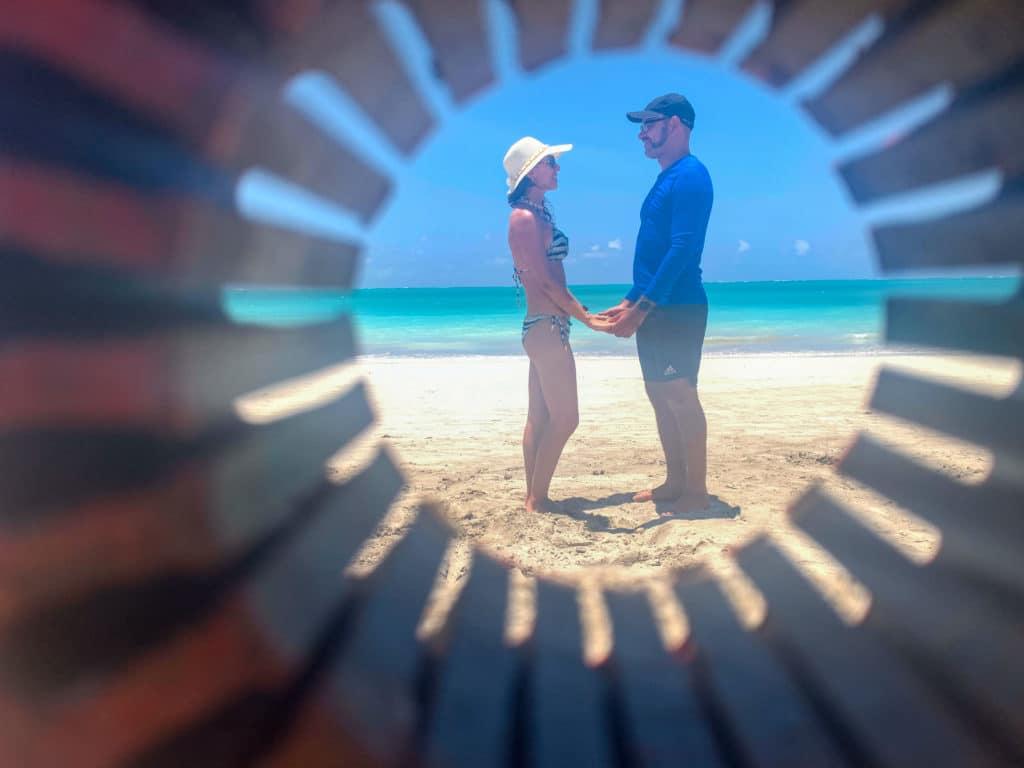 Fotos clássicas na praia de Maragogi