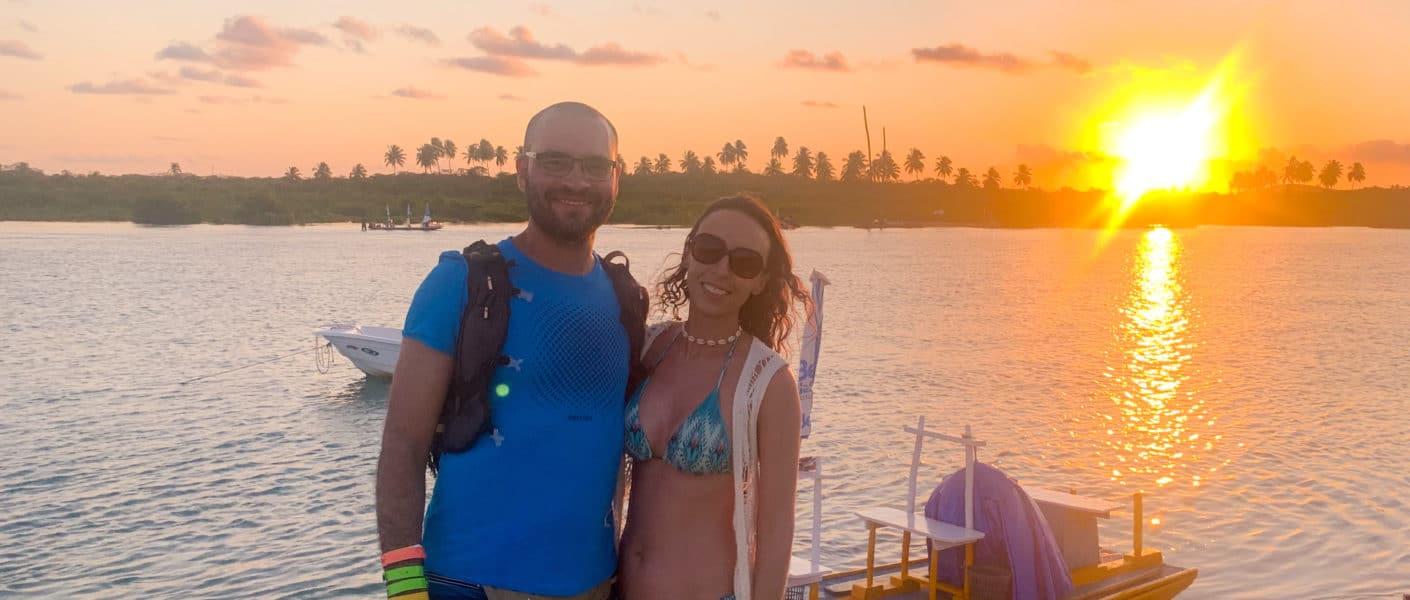 Pontal do Maracaípe - jangada - por do sol
