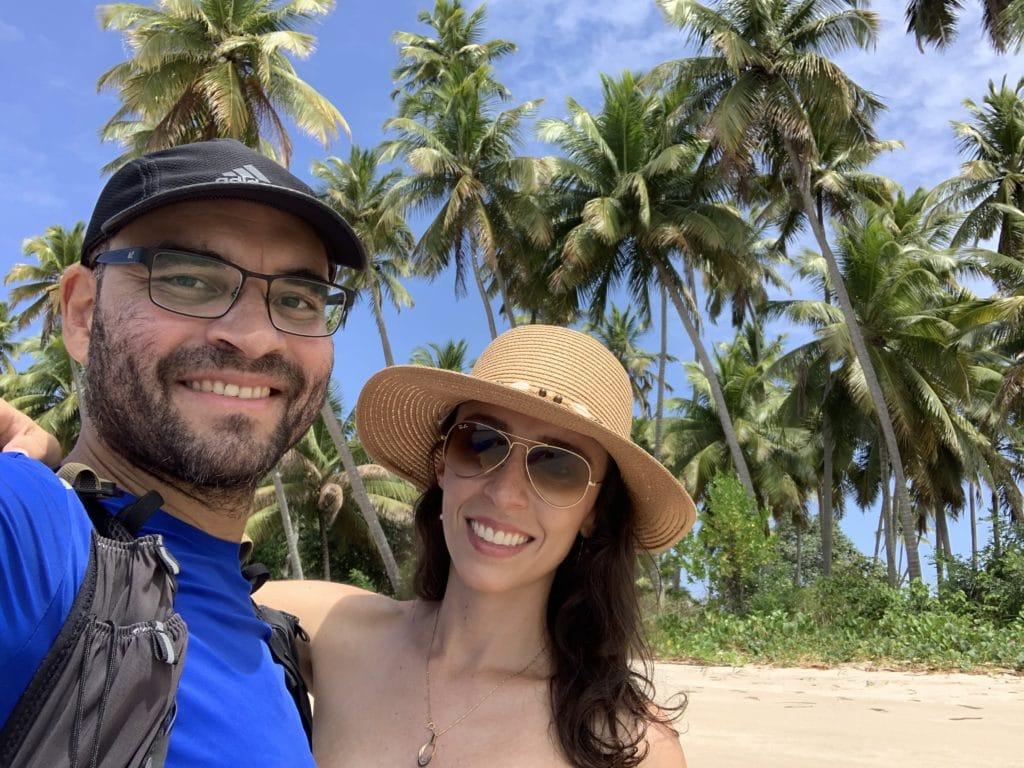 Praia dos Carneiros - coqueiros - vista da praia