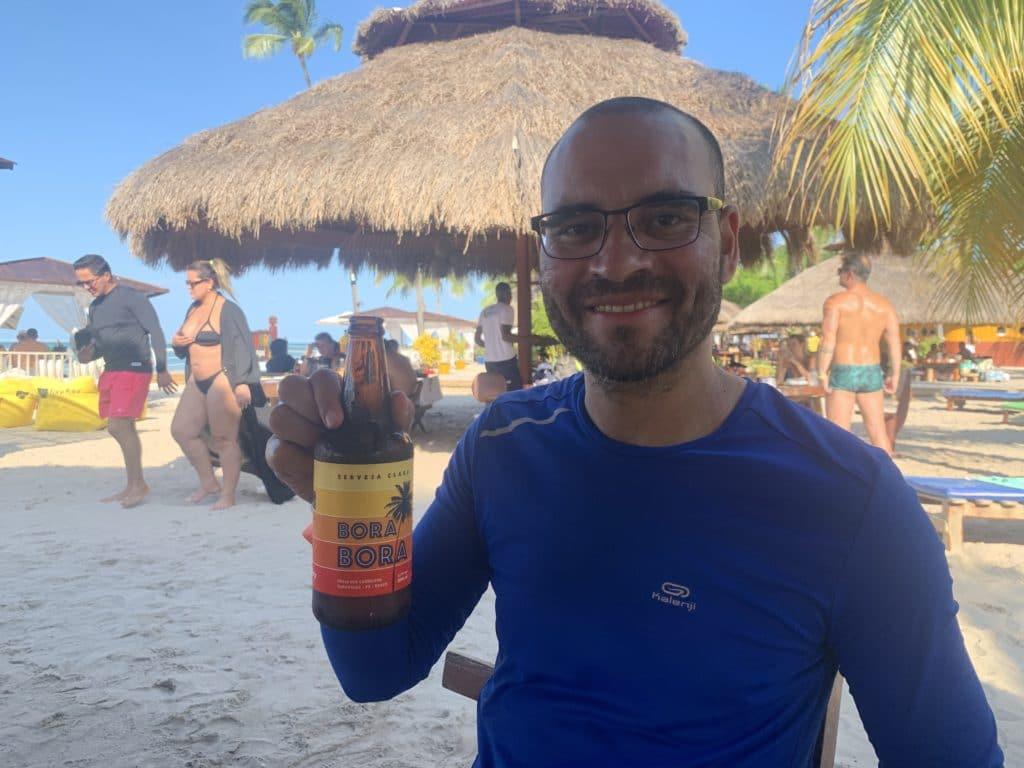 Restaurante Bora Bora com sua cerveja local