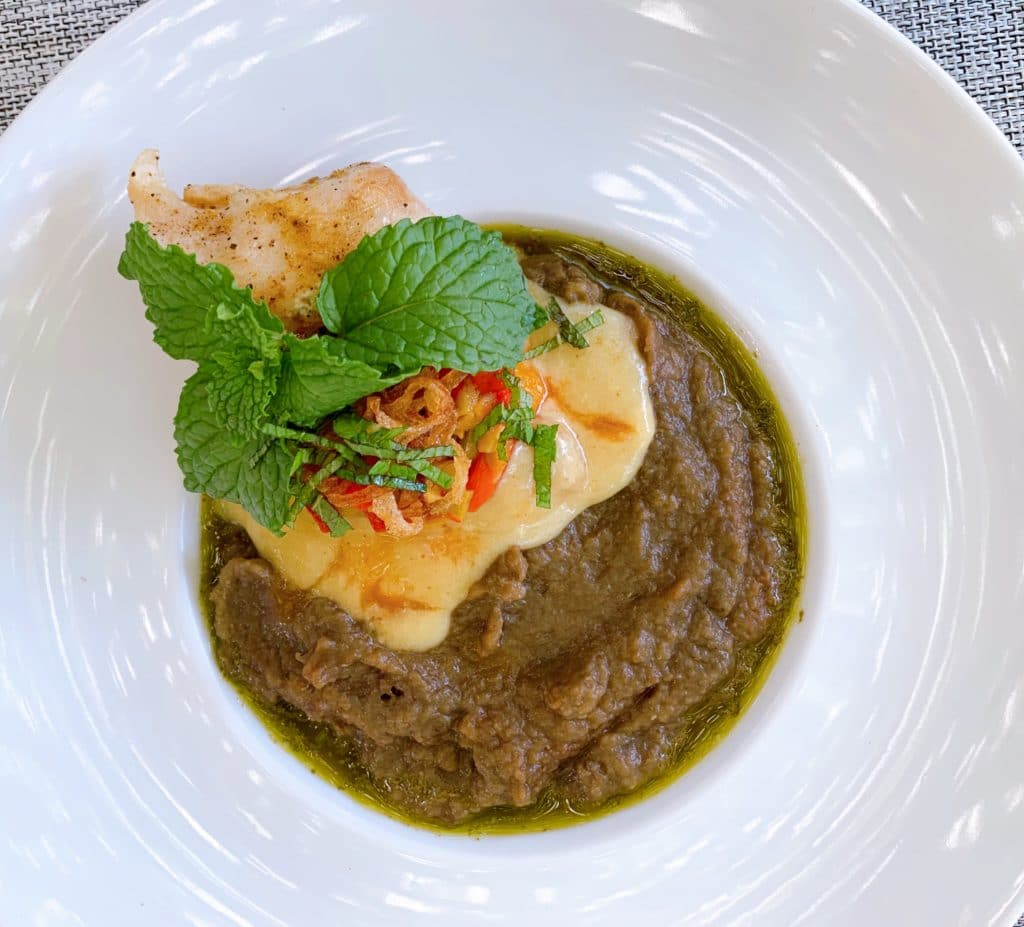 prato principal de badejo dos marrocis no Tuyn Restaurante