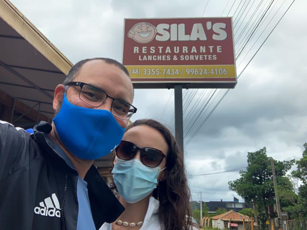 Sila's Restaurante na praia do Rosa