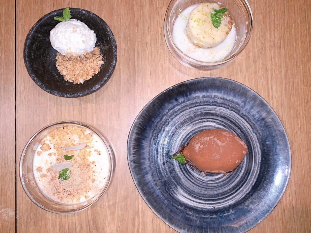 Quatro sobremesas diferentes e gostosas do restaurante