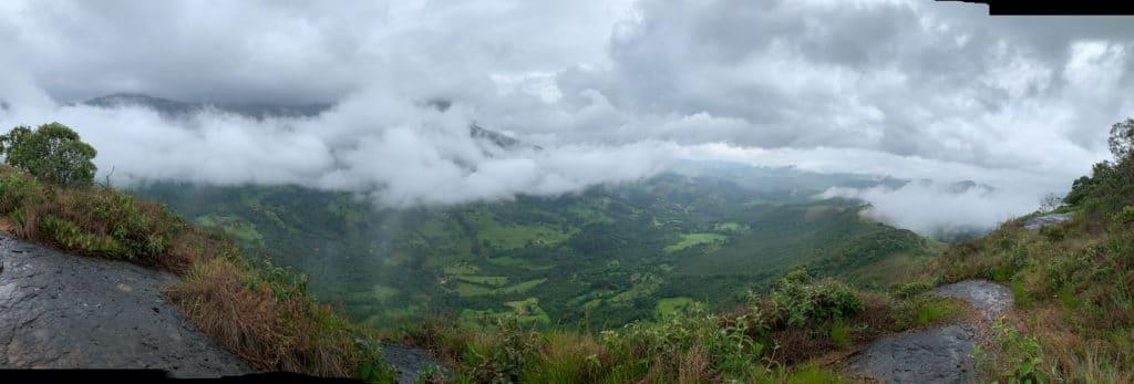 Aiuruoca vista panorâmica do pico do Leão