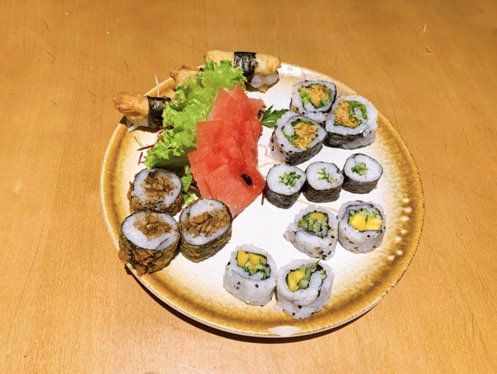 Koji Sushi sashimis veganos