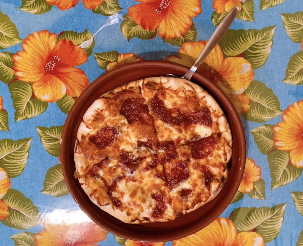 Pizza Doce da Pizzaria Azeitona em Aiuruoca