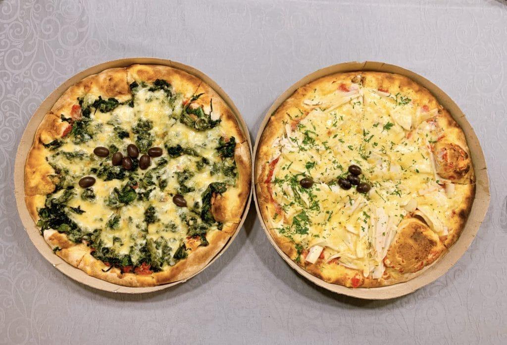 Pizzas que escolhemos e estavam deliciosas