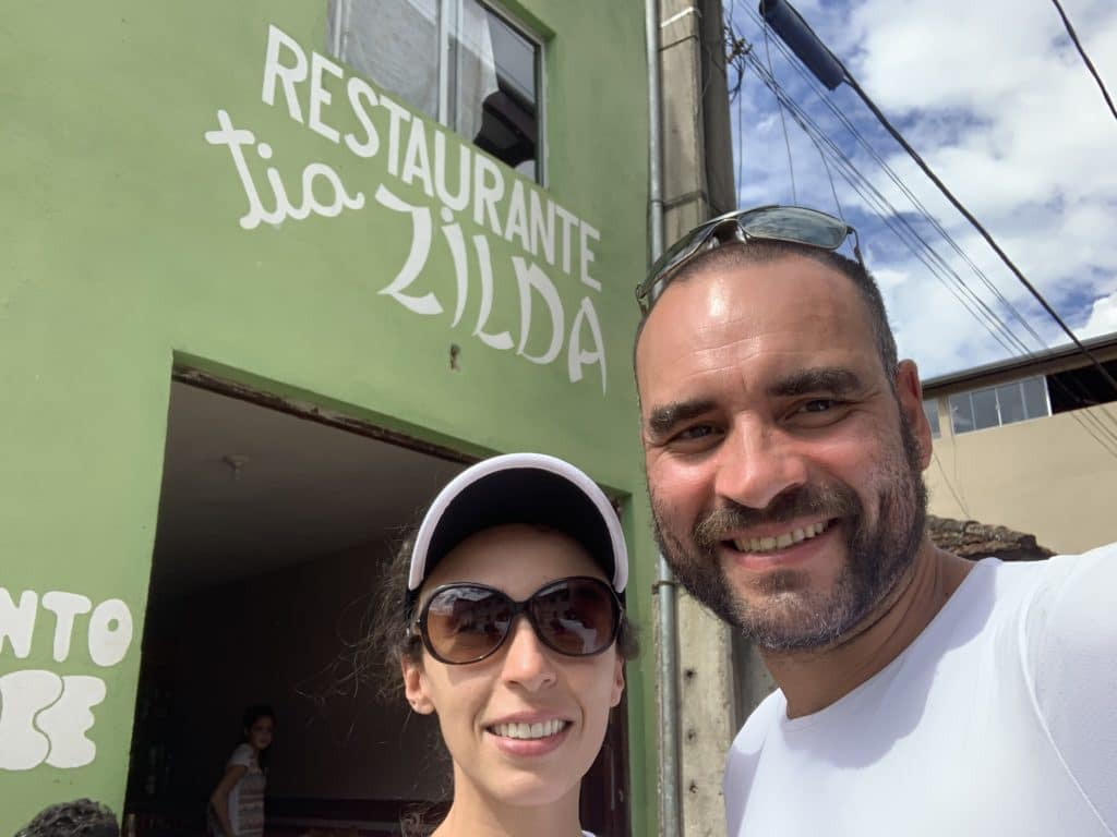entrada do restaurante da tia Zilda em Alagoa