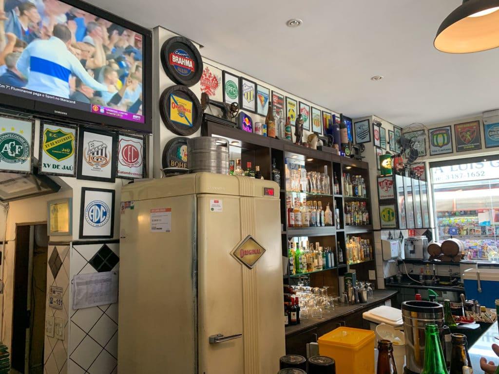 O bar para escolher a bebida