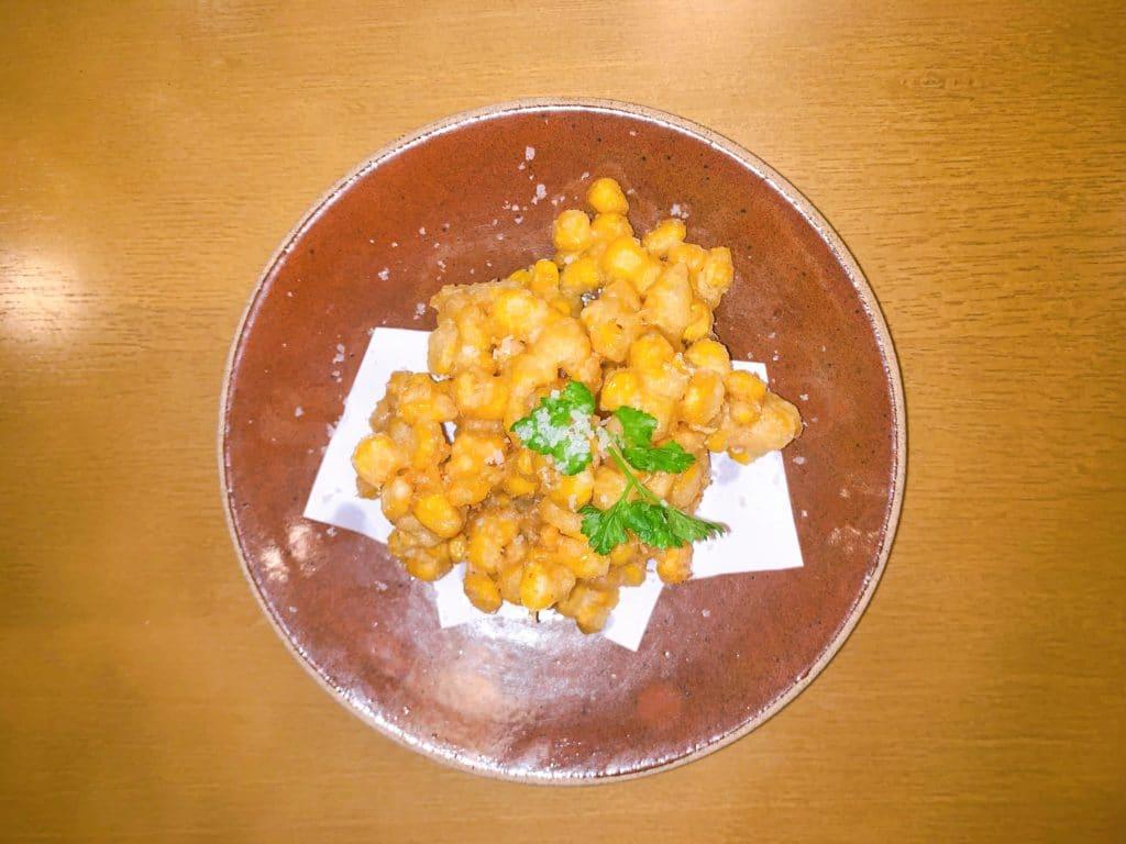 wa restaurant tempura de milho frances
