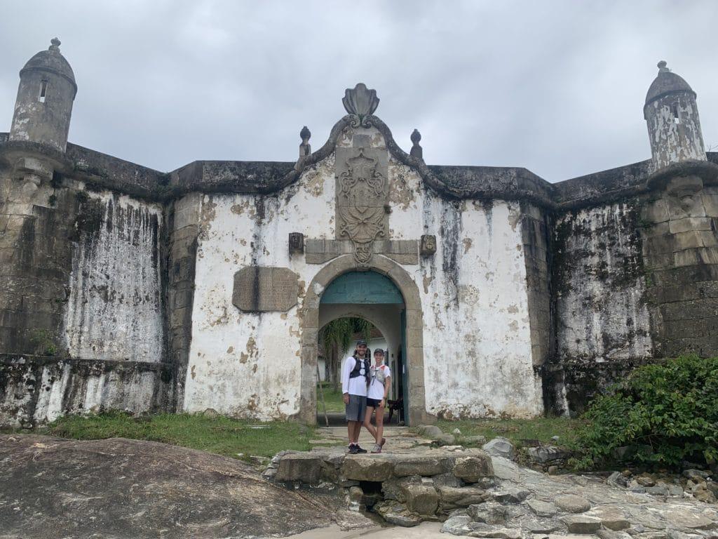 Ilha do mel - entrada da fortaleza