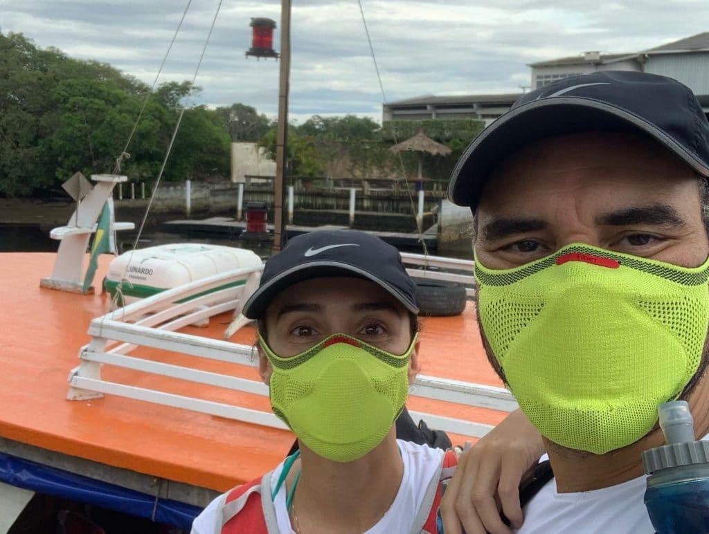 Minutos antes de entrar no barco pra a viagem para a ilha do mel