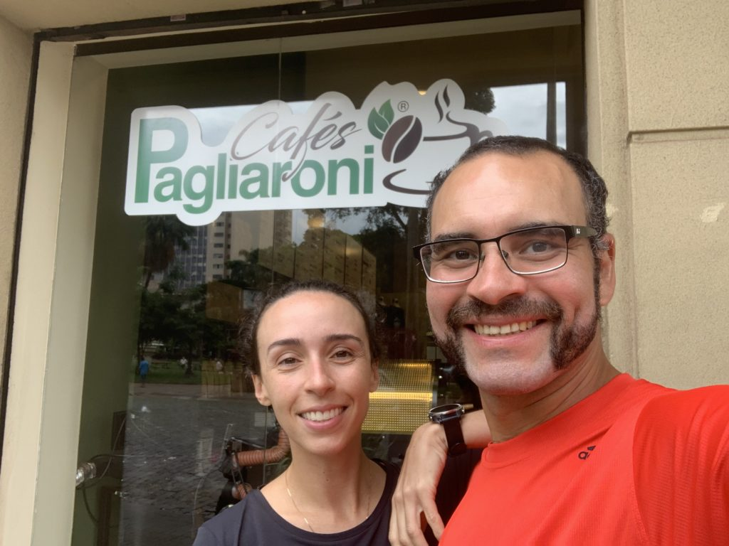 Café Pagliaroni no centro de Ribeirão