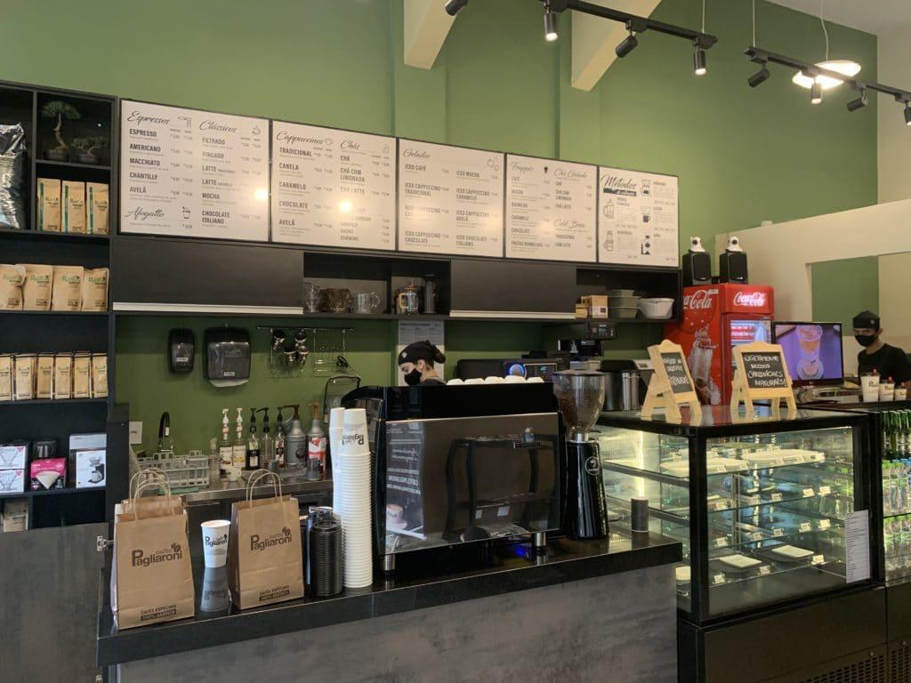 Café Pagliaroni local para pedir o café