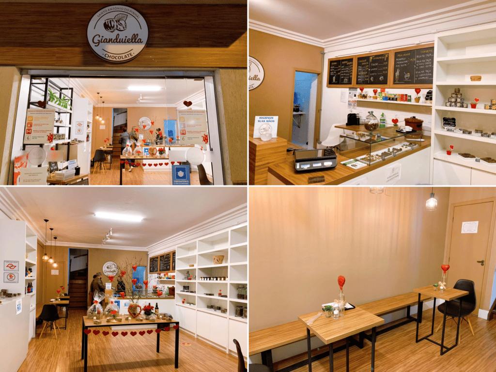 Gianduiella Chocolates loja no centro da cidade.