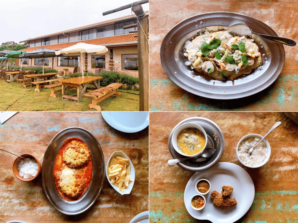 Manjericampos Restaurante e suas comidas