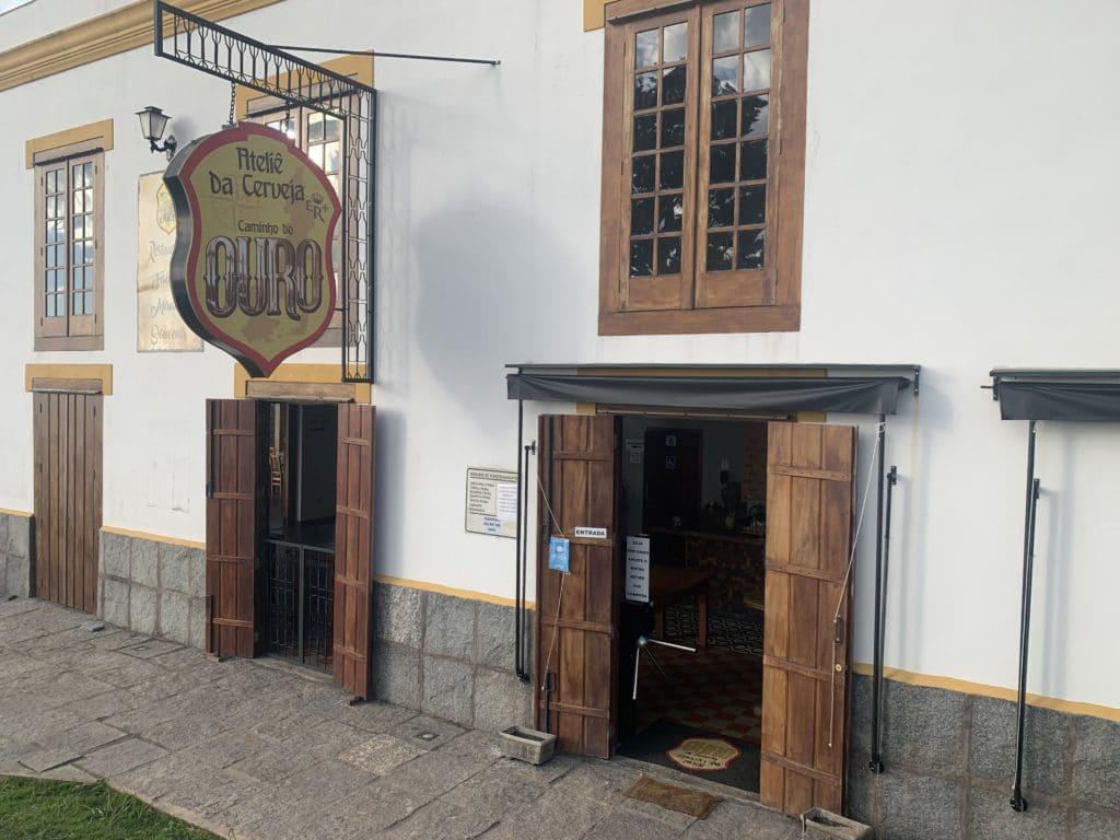 Ateliê da cerveja caminho do Ouro entrada em Cunha