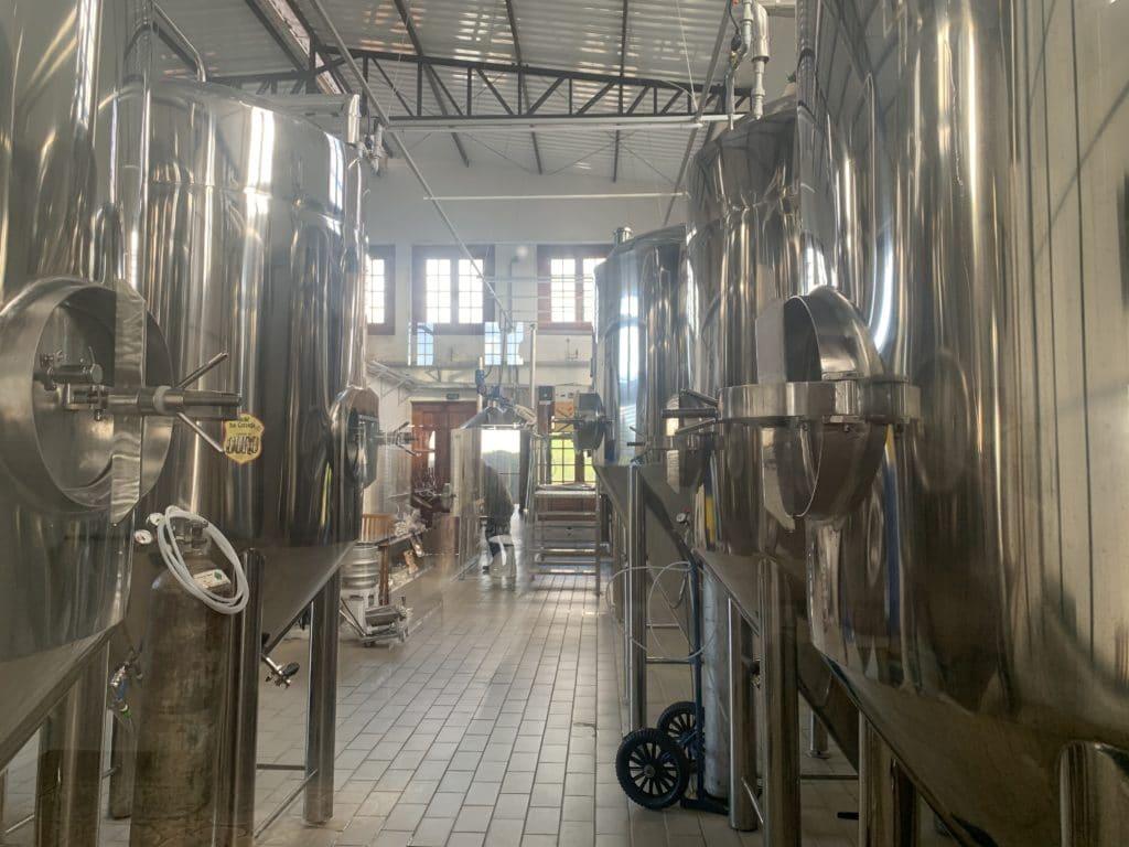 Local da produção da cerveja no Ateliê da cerveja caminho do Ouro