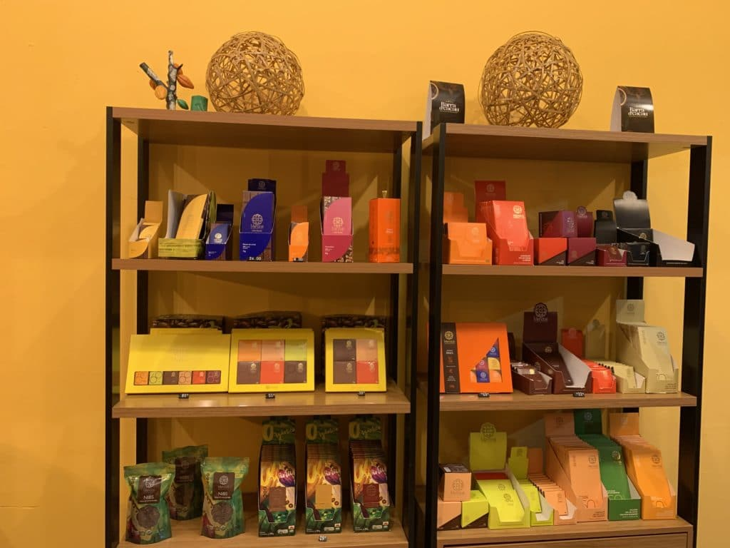 Chocolates da loja Barra d'Cacau, em Barra Grande