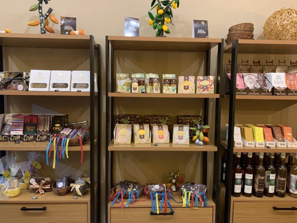 produtos da loja de chocolate, em Barra Grande