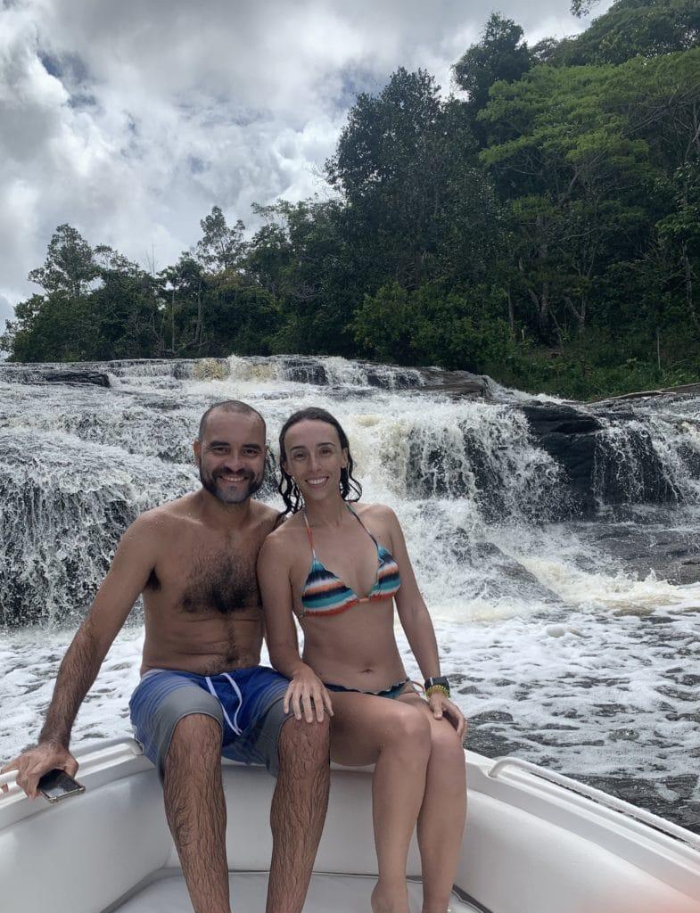 Cachoeira do Tremembé, em Maraú mas não na península