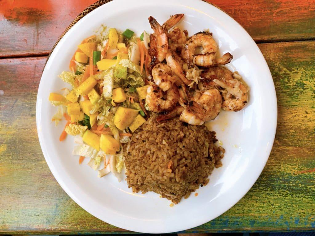 Camarão com Gengibre - Restaurante Manga Rosa - Itacaré