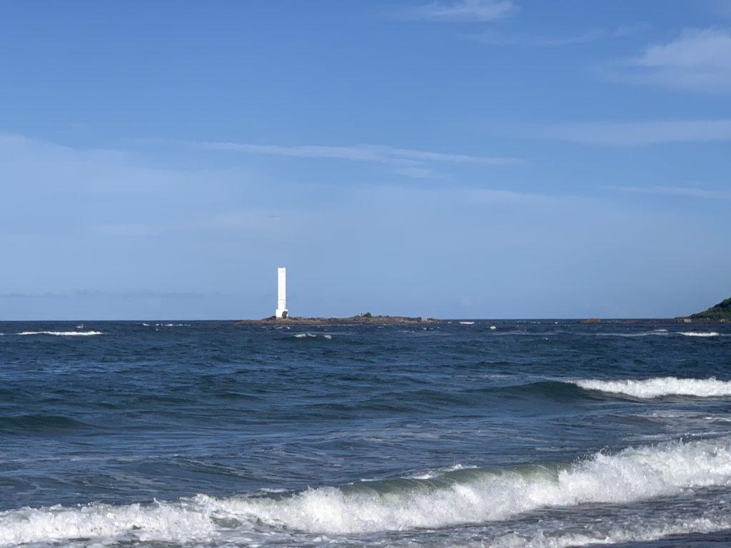 Farol das Conchas visto da Praia do Pontal - Itacaré