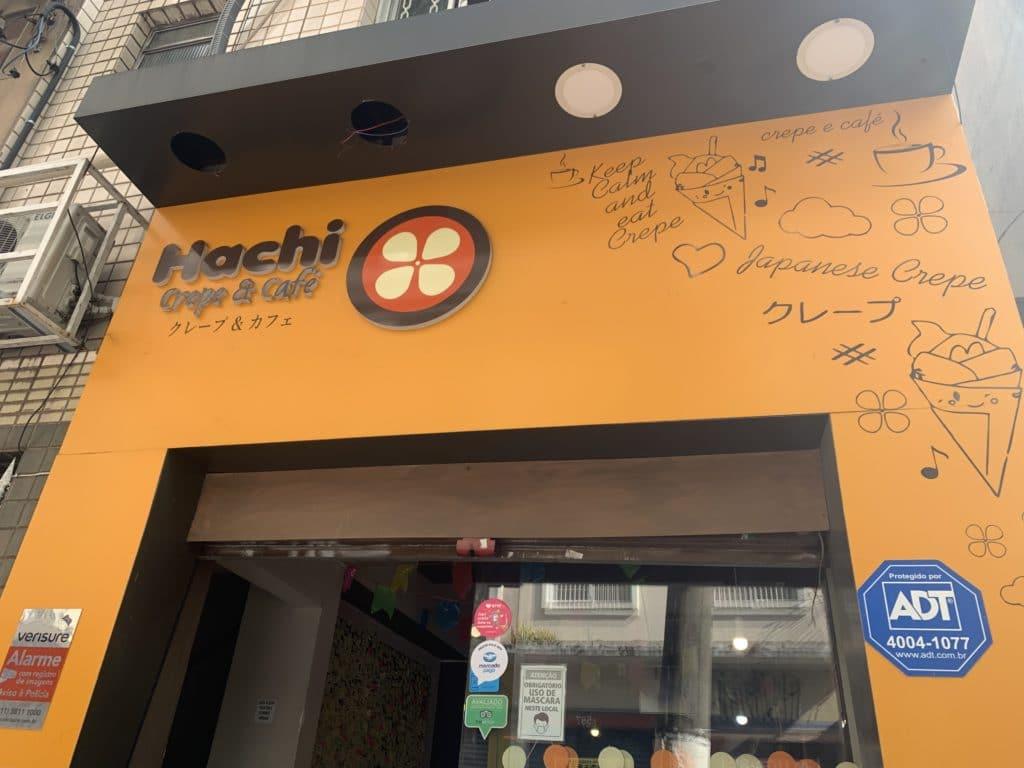 Entrada Hachi crepe e cafe