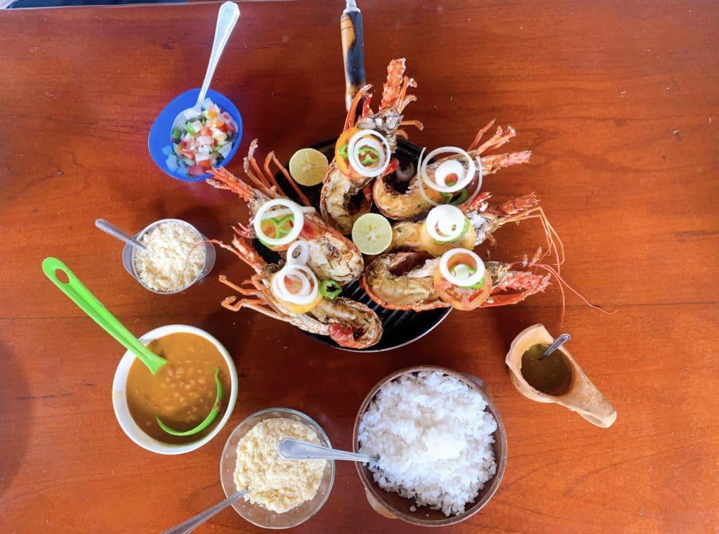 prato principal na Ilha do Sapinho
