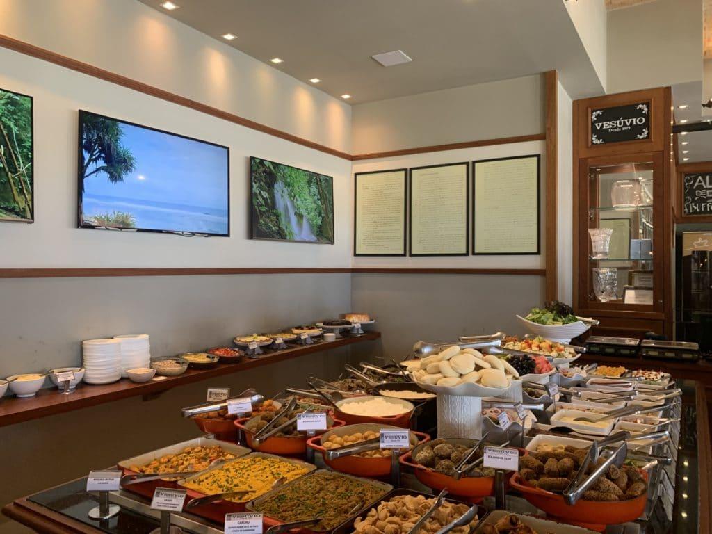 Buffet restaurante em Vesuvio