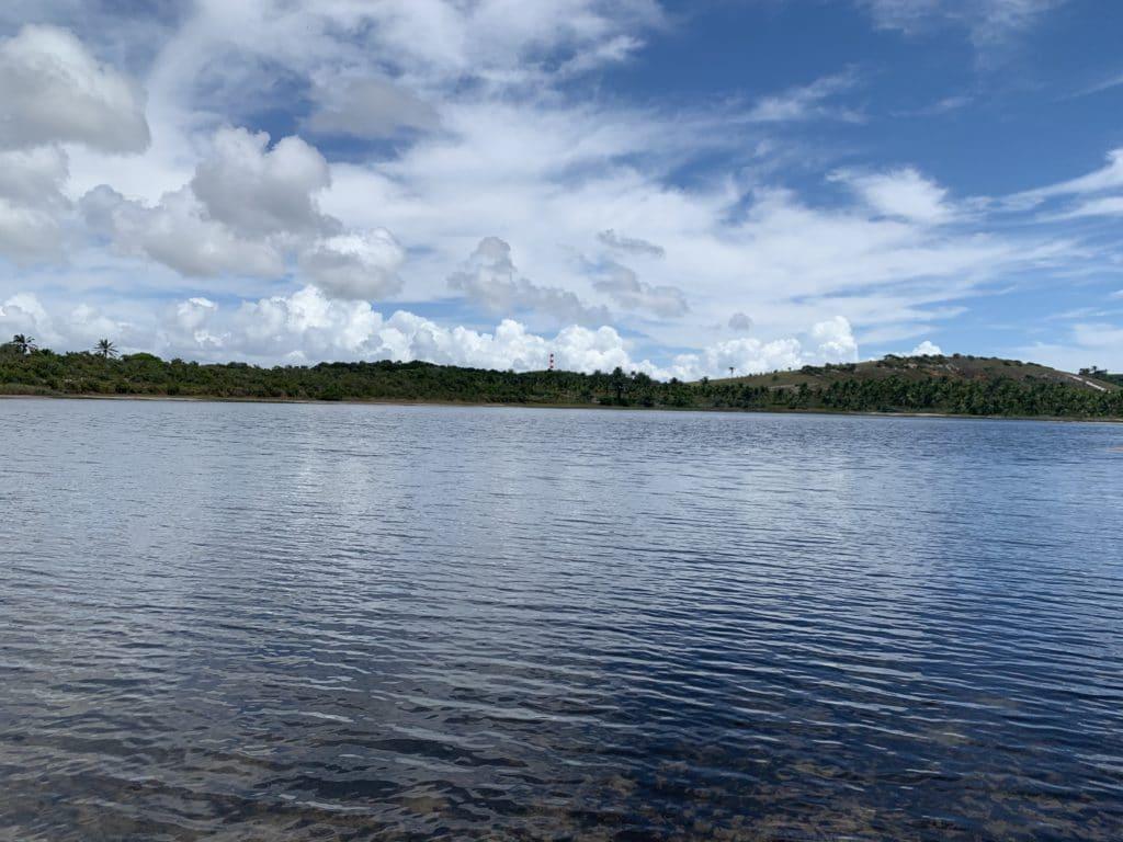 Lagoa Azul na peninsula de marau, em Barra Grande